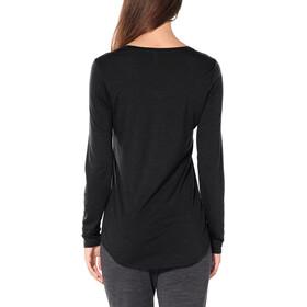 Icebreaker Solace Langærmet T-shirt Damer, black heather